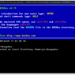 DOSBox gestartet unter Raspbian.